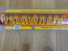 """TrimBrite REAR WINDOW DECAL 20"""" x 66"""" FIRE FLAMES Weather Proof"""