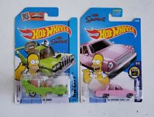 Hot wheels Lot of 2 The Simpsons Family Car & The Homer