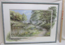 Landscape Print Picture Signed Reint Withaar Framed Matted Painting on Matting