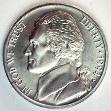 1994 P Jefferson Matte Finish BU Nickel Philadelphia Minted 5c Unc US Coin