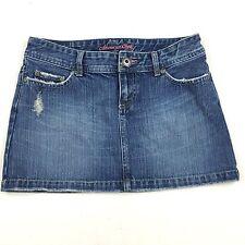 American Eagle Size 0 Skirt Women's Jean Distressed Denim Mini Pink Bling Cotton