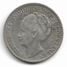 Netherlands Queen Wilhelmina 1 Gulden Silver Coin 1930 -- MUST L@@K!