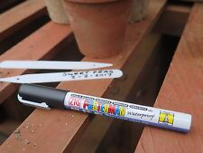 Waterproof Chalkboard Mirror Ceramic Pen Plant Label Marker. Black Fine