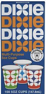 Dixie Multi-Purpose (Retro) 100 5 oz. Paper Cups 1950's 1960's 1970's/ Lot Of 4