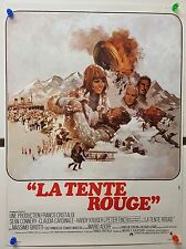 RED TENT French 15x21 '71 art of Sean Connery & Claudia Cardinale Poster M10