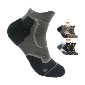 Pro Mens Womens Basketball Cotton Sports Ankle Socks Running Jogging Socks Grey