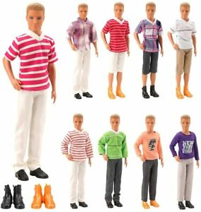 Barwa Lot 8 Items Clothes for 12 Inch Boy Doll  Include 3 Sets Casual Wear