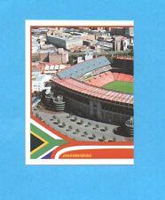 SOUTH/SUD AFRICA 2010-PANINI-Figurina n.10-JOHANNESBURG STADIO SX-NEW BLACK BACK