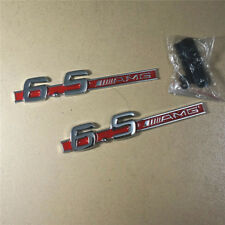 Chrome Red 6.5AMG Metal Grille Emblem + Badge Sticker s65 Turbocharged Coupe g65