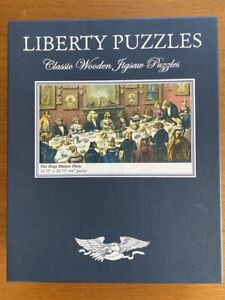 Liberty Puzzles Classic Wooden Jigsaw Puzzle The Dogs Dinner Party 447 pieces