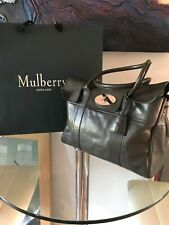 Ladies Glossy Goat MULBERRY Bayswater Leather Tote BAG - GOLD Hardware & LOCK