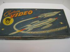 Vintage Complete Original Captain Video Board Game By Milton Bradley~Circa 1952