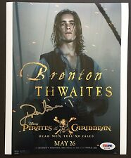BRENTON THWAITES SIGNED 8X10 PHOTO AUTOGRAPH  PIRATES OF THE CARIBBEAN PSA COA