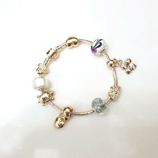 NEW Gold Plated Murano Beads Various Charm Bracelet Masino Collection