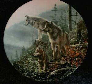 VTG '92 Knowles~Ahead Of the Pack~Gray Wolf~Kevin Daniel #5 Collector Plate, COA
