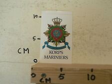 STICKER,DECAL KORPS MARINIERS QUA PATFT ORBIS LEGER ARMY