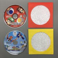 Nintendo Wii Mario Game LOT Mario & Sonic & New Super Mario Bros Tested - G32