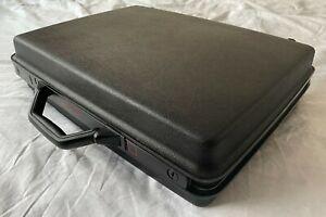 Samsonite briefcase hard shell black with Samsonite key and keyring