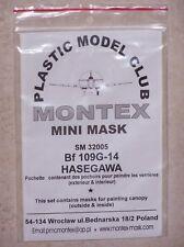 MONTEX 1/32ème MINI MASK Bf 109G-14 HASEGAWA ref. SM 32005