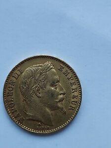 Piece Or 20 Francs  1866 Napoléon III B