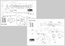 Ukulele Plans set of 2 - Concert & Tenor - Full Scale