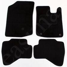 Citroen C1 2005-2014 Tailored Carpet Car Mats Black 4pc Floor set 2 clips