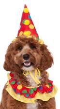 Per Cane Gatto Cappello Clown Circo collo Ruffle Carnevale Costume Vestito