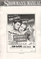 NO ROOM FOR THE GROOM pressbook, Tony Curtis, Piper Laurie -----PLUS POSTER-----