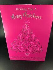 Greeting Card General Christmas 'wishing You A Merry Christmas' Xmas