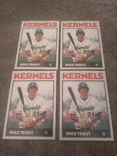 Mike Trout Lot #4 RC Minor League Rookie Cards #28 Cedar Rapid Kernels SP Angels
