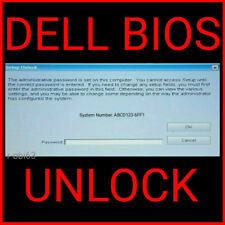 DELL Bios Unlock Removal Password Service for Tags -1D3B / 6FF1 / 595B / 1F66