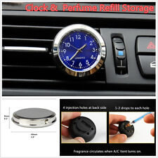 1pcs Car Interior Quartz Clock A/C Vent Clip Perfume Refill Storage + Backlight
