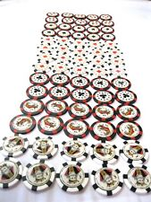JOBLOT OF 350 x POKER CHIP STYLE GOLF BALL MARKERS -  CARD COLLECTION