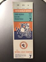 1979 World Series Ticket Stub Pittsburgh Pirates at Baltimore Orioles Game 7