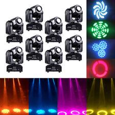 8PCS 30W RGBW Stage Light LED Spot Moving Head Light DMX Disco DJ Party Lighting