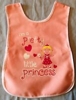 NEW GIRLS AGE 1-5 YEARS PINK 'I'M A PRETTY LITTLE PRINCESS' PRINT TABARD APRON