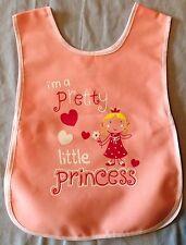 NEW GIRLS AGE 1-5 YEARS PINK 'I'M A PRETTY LITTLE PRINCESS' PRINT TABARD APRON