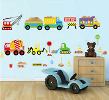 Bob the Builder Style Construction Vehicles Nursery Wall Sticker Decoration Wall