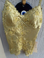 Women's Sue Wong Nocturne 100% Silk Beads & Sequins Top Size 0