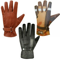 Winter Leather Motorcycle Gloves Motorbike Biker Cycling Lining Gloves