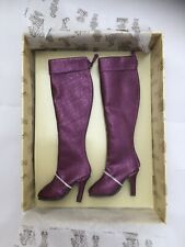 Doll SHOES - Tonner Ellowyne Wilde ~ High & Mighty Boots, Purple - fashion heels