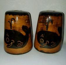 Whale Salt And Pepper Shakers Kona Hawaii By Ele Brown 3.25 Inch