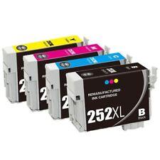 4Pk T252XL Ink Cart for Epson WorkForce WF3620 WF3640 WF7110 WF7610 WF7620
