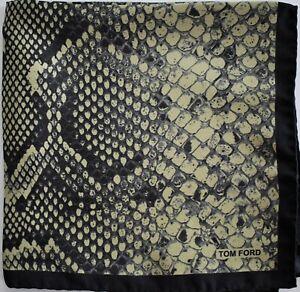 New Authentic TOM FORD 100% SILK Pocket Square Pochette Handkerchief