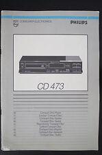 philips CD-473 ORIGINALE LETTORE CD istruzioni d'USO / istruzioni d'uso