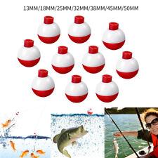 10pcs Fishing Red White Float Balls Buoy Set For Fishing Bobbers Drift Indicator
