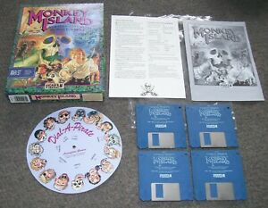 Atari 520 1040 ST STE Computer Game The Secret of Monkey Island BOXED Lucas Film