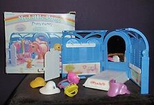 Vintage 1983 My Little Pony Pretty Parlor Hasbro Play Set Stable Saddle Hats Cat