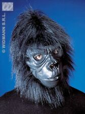 Black Gorilla Mask Zoo Animal Monkey Ape Chimp Stag Party Fancy Dress Clr