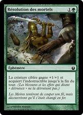 MTG Magic BNG FOIL - Mortal's Resolve/Résolution des mortels, French/VF